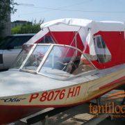 Ходовой тент на лодку Обь-1