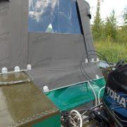 Ходовой тент на лодку Днепр на штатное стекло