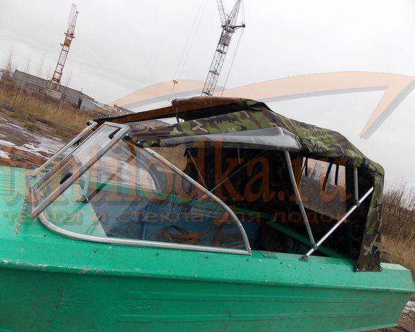 Ходовой тент на лодку Ока 4