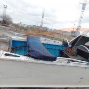Ходовой тент на лодку Серебрянка 3