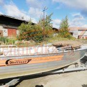 Ходовой тент на лодку Вельбот 42