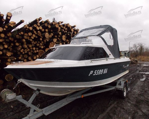 Тент полурубка на лодку Москва 2 М
