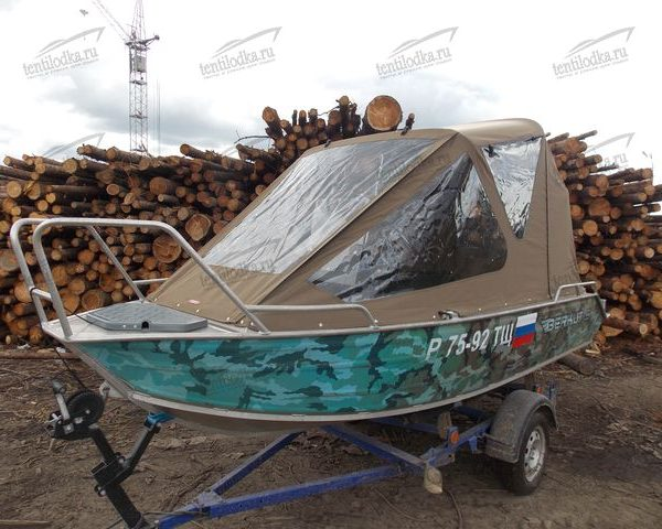 Ходовой тент на лодку Беркут С (Berkut S)